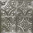 5 Pack of 24x24 Nail-Up Tin Ceiling Tiles - Pattern #2, Unfinished - Victorian Floral (Covers 20 sq.ft.)