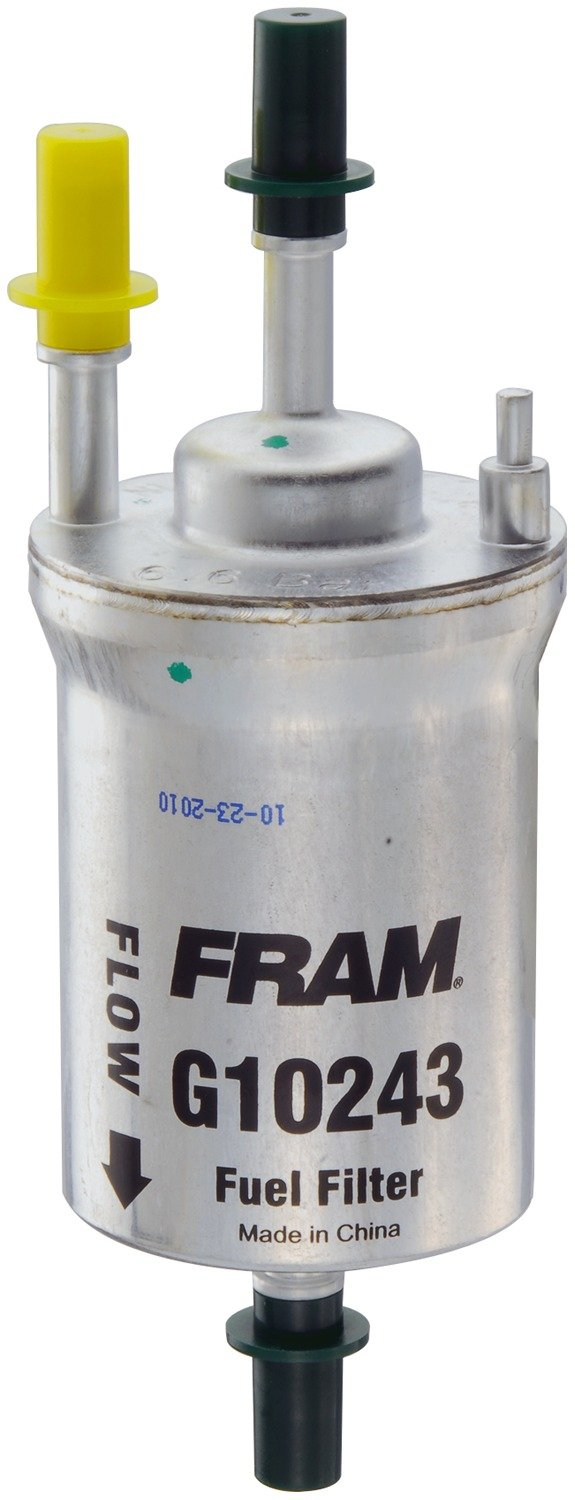 Fram G10243 Inline Gasoline Fuel Filter For Select 2003 Jeep Wrangler Location Volkswagen Audi Models Automotive