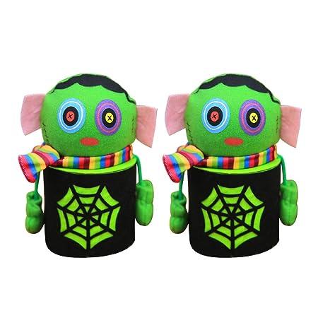 BESTonZON 2pcs Halloween Green Zombie Doll Gift Box Spider ...