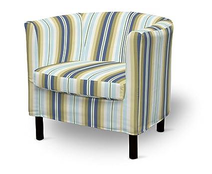 Dekoria Fire retarding IKEA SOLSTA sillón cubierta - azul y ...
