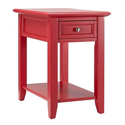 Amazon Com Chelsea Lane End Table With Power Outlet Kitchen Dining