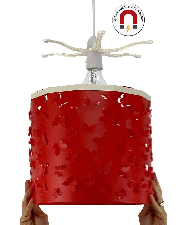 Ereki Abat-jour papillons blancs + EREKI Connecteur magnétique pour la décoration et le changement instantanés de pièce sans toucher l'ampoule … Arocor Ltd 7W001COM