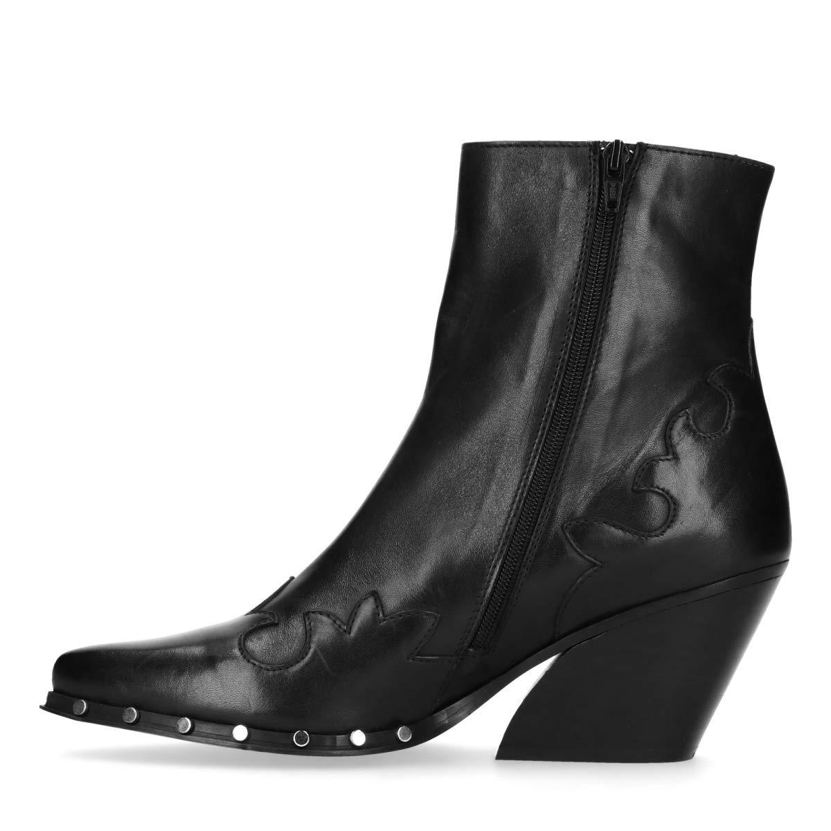 Sacha Schuhe   Damen Stiefeletten     Western   Farbe  Schwarz 1f1bf5