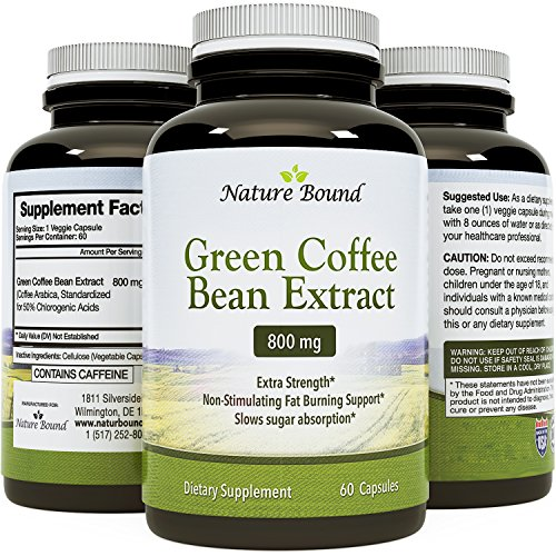 Natural Green Coffee Bean Extract Detox Cleanse Maximum Strength Weight Loss Dietary Supplement Increase Energy Appetite Suppressant Burn Fat Boost...