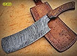 RK- CP-285, Damascus Steel 12.00 Inches Cleaver style Knife – Solid Rose Wood Handle
