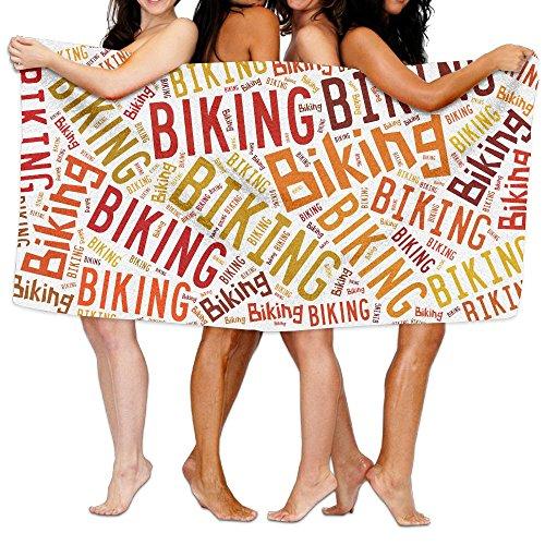 交通アストロラーベ援助するビーチバスタオル バスタオル Biking レジャーバスタオル 海水浴 旅行用タオル 多用途 おしゃれ White