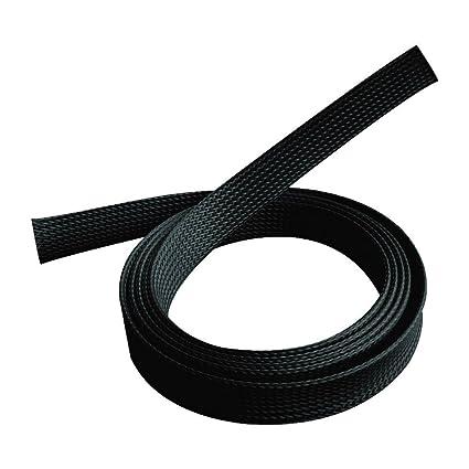 10mm PET erweiterbar geflochten kabelschlauch kabelstrumpf kabelschutz kabelmantel schwarz Alex Tech kabel sleeve 30m