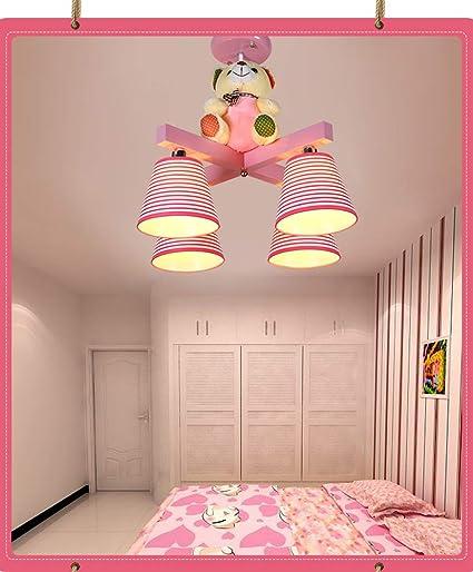 Amazon.com: DECORATZ Striped Pink Children\'s Room Chandelier ...