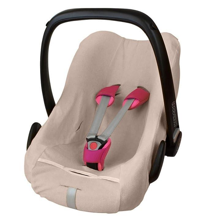 byboom® – Rizo funda de verano, colchón para portabebés, Auto asiento, por ejemplo Maxi Cosi cabriofix, City, Pebble; Diseñado en Alemania, fabricado ...