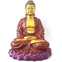 Buda Meditando na Flor de Lótus (25cm)