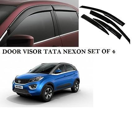 VAIBN Door Visor Sun Visor Wind Deflector Tata Nexon (Black) - Set of 4   Amazon.in  Car   Motorbike 1bece17cbe7