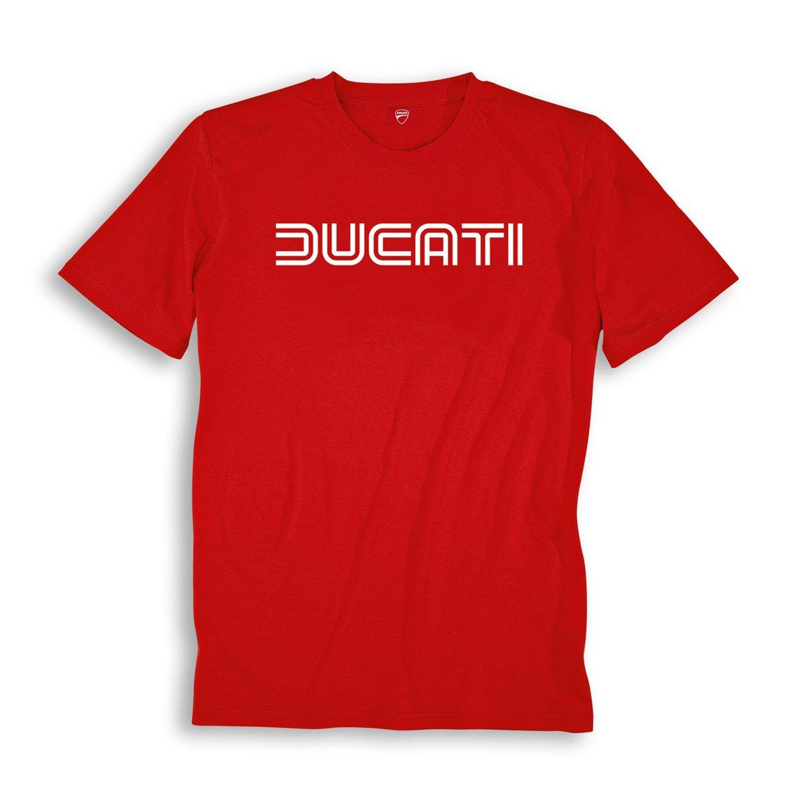 Ducati Ducatiana 80's Eighties Short Sleeve T-Shirt Red XX-Large