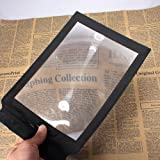 !New A4 Full Page Reading Aid Lens Magnifier Sheet Magnifying Glass 3X Magnifier
