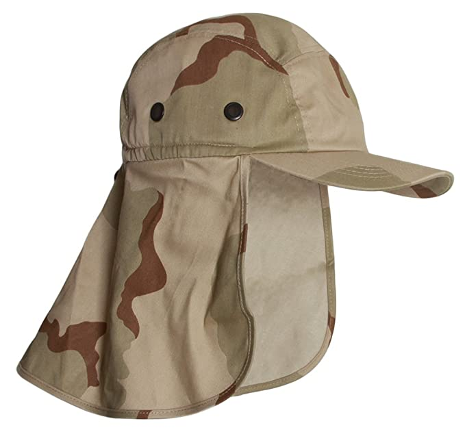 49de24d8db5 TOP HEADWEAR Vacationer Flap Hat with Full Neck Cover - New Desert  Camoflauge  Amazon.ca  Clothing   Accessories