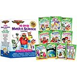 10 DVD Math & Science Collection by Rock 'N Learn (Addition & Subtraction, Tell Time, Money, Multiplication, Division, Fractions, Physical Science, Earth Science, Life Science and Human Body)