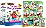 10 DVD Math & Science Collection by Rock 'N Learn (Addition & Subtraction, Tell Time, Money, Multiplication, Division, Fractions, Physical Science, Earth Science, Life Science and Human Body) Image