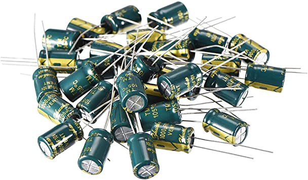 20 x 100uF 50V 105C Radial Electrolytic Capacitor 8x11mm USA Seller