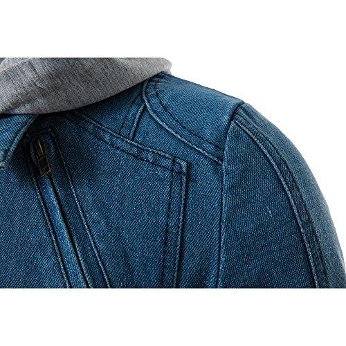 Capuchon Longue À Veste Homme Slim Fit Longra Manteau Zipper Manche 4vwzqC7xXw
