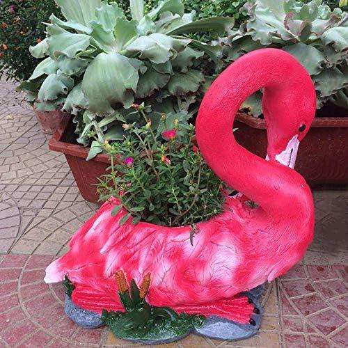 庭の装飾クリエイティブ鳥フラワーポット防水酸化マグネシウム庭の庭の風景芝生装飾工芸ギフト-40 * 21.5 * 37.5 cm A