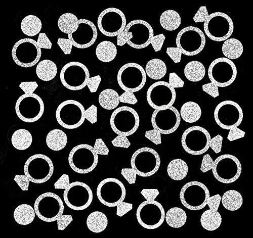 Fecedy Silver Confetti for ring Bachelorette Party 200pcs/pack
