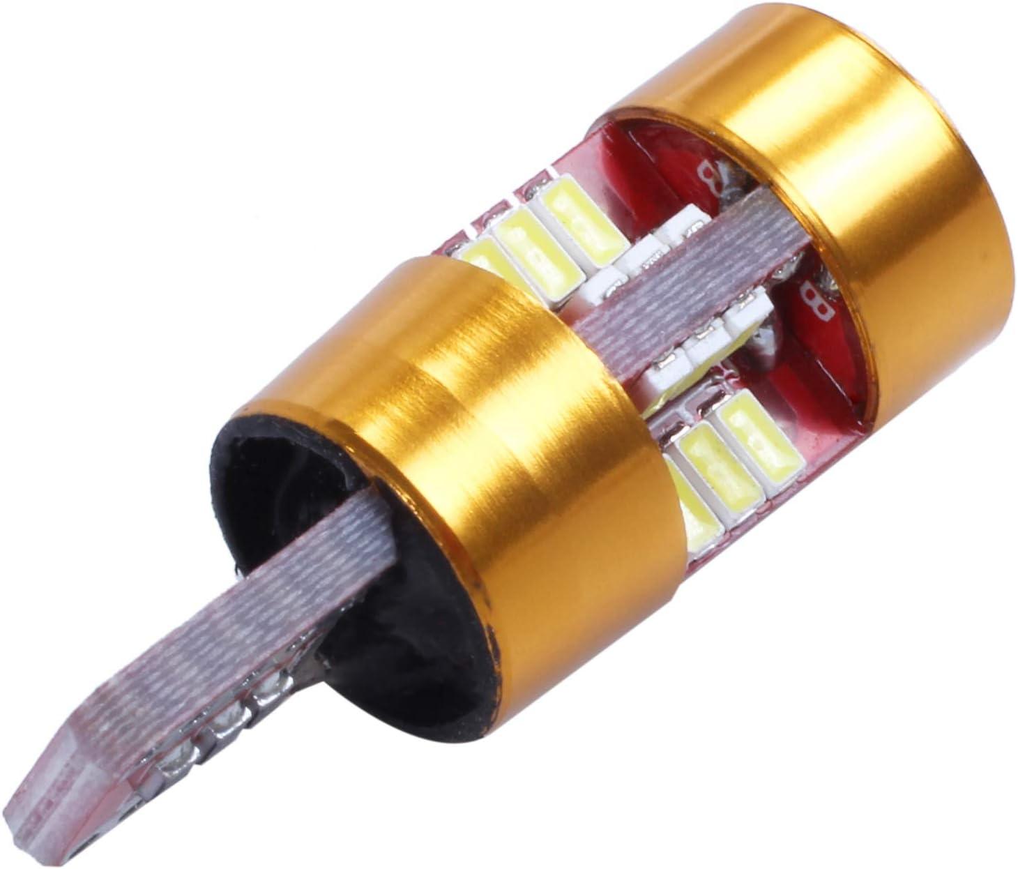 2 Pz T10 27Smd 3014 TOOGOO LED Lampadine per Auto Canbus T10 27Smd 3014 12V 10W 1000Lm Canbus E Dissipatore di Calore Incorporati per Illuminazione Interna Dome Ligh