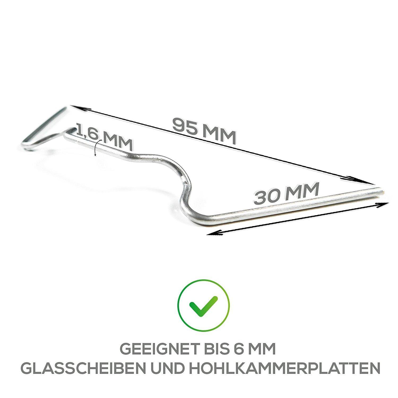 Dicke Rostfreier Edelstahl Gewachshaus Klammern 50 Stuck Bis 6mm