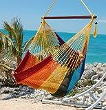 Caribbean Hammocks Large Chair - 48 Inch - Polyester - Hanging Chair - rainbow