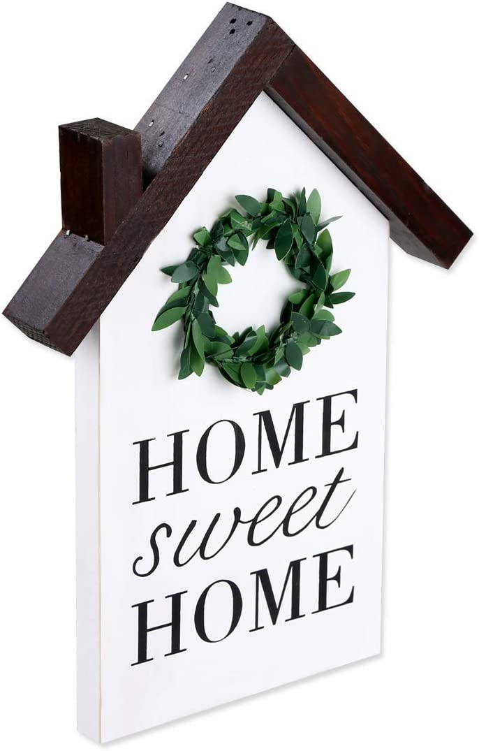 Rustic Wood block house, little wood house Decor, Home Sweet Home sign, wood houses Farmhouse Decorative