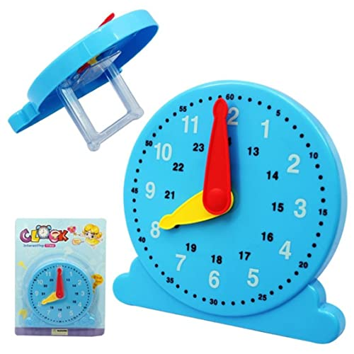 Sg Dreamz Interactive Teaching Clock Learning Time For Children. Color Coded Hands And Markings For Ease Of Reading And Learning. Manual Rotating Hands Learn To Tell Time With Play Way Toy Method
