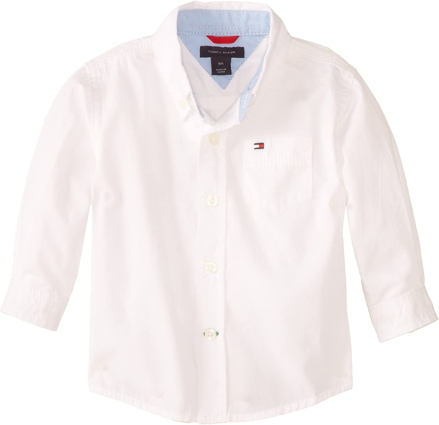 Baby Boy/'s Tommy Hilfiger Long Sleeve Woven Shirt in White