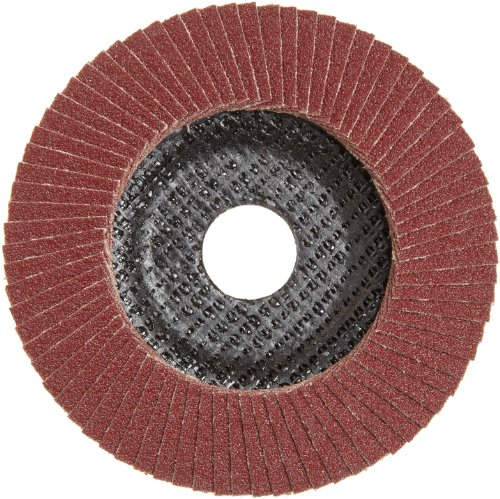 PFERD Polifan PSF Abrasive Flap Disc, Type 27, Round Hole, Phenolic Resin Backing, Aluminum Oxide, 4-1/2 Dia., 60 Grit (Pack of 1)