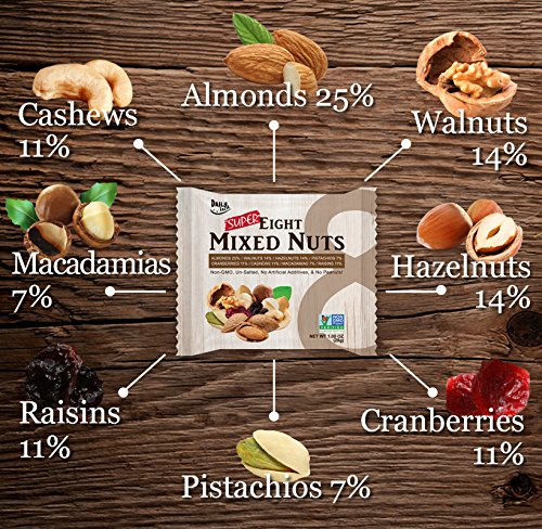 Daily Fresh Super Eight Mixed Nuts, 24 Count by Daily Fresh