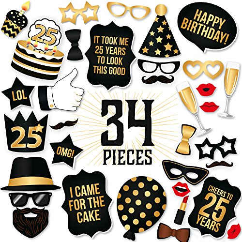 25th Birthday Photo Booth Props Fabulous Forty Party Decoration Supplies For Him Her Funny Fortieth Bday