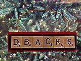 Arizona Diamondbacks DBacks Scrabble Tiles Christmas Ornament Handmade Holiday