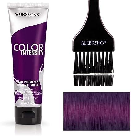 Color Intensity By Joico Joico Intensidad del color semi-permanente en crema Color de pelo (liso Con Tinte-Brush) (amatista púrpura)