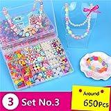 Kids Jewelry Box DIY Kit 650Pcs Jewelry Making Kits for Girls MeMo Toys