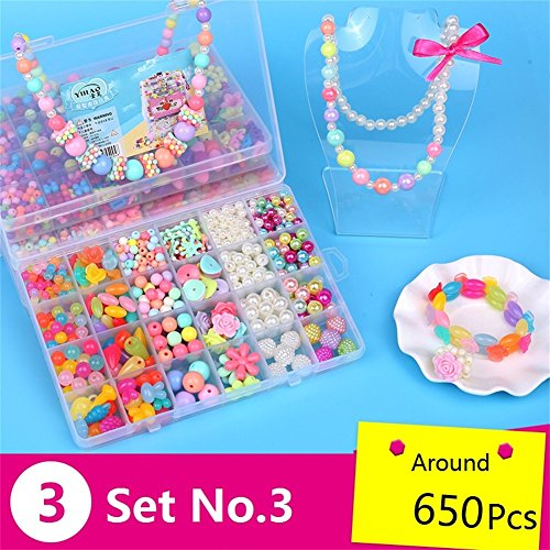Kids Jewelry Box DIY Kit 650Pcs Jewelry Making Kits for Girls MeMo Toys by MeMo Toys