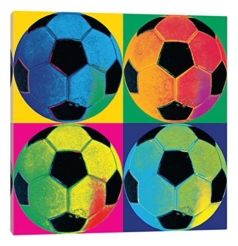 iCanvasART Ball Four-Soccer Canvas Print, 37'' x 0.75'' x 37'' by iCanvasART