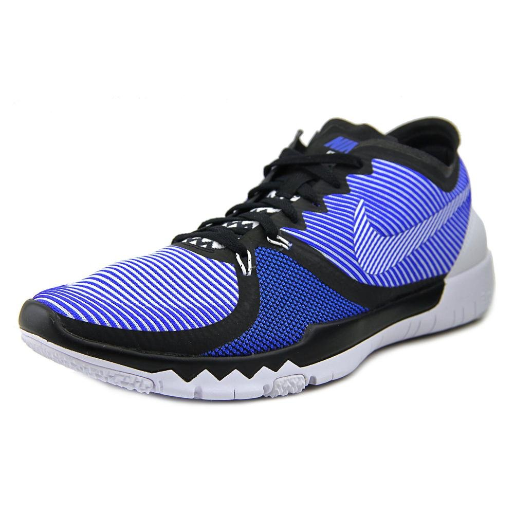 hot sale online 5a613 37387 Amazon.com   Nike Free Trainer 3.0 V4 Black White Blue 749361-014   Fashion  Sneakers