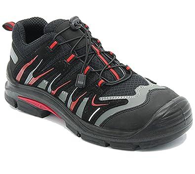 Arbeitsschuhe Sicherheitsschuhe Schuhe RALLOX 577 Sneaker schwarz rot grau S1 P vglb. Stahlkappe Gr. 38 39 40 41 42 43 44 45 46 47 Herren Damen