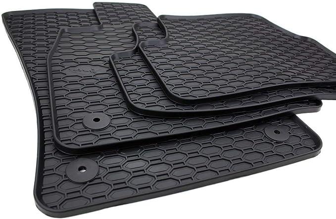 Kfzpremiumteile24 Gummimatten Kompatibel Mit Golf 7 5g Ab 2012 Leon 5f Ab 2012 Premium Fußmatten Gummi Schwarz 4 Teilig Auto