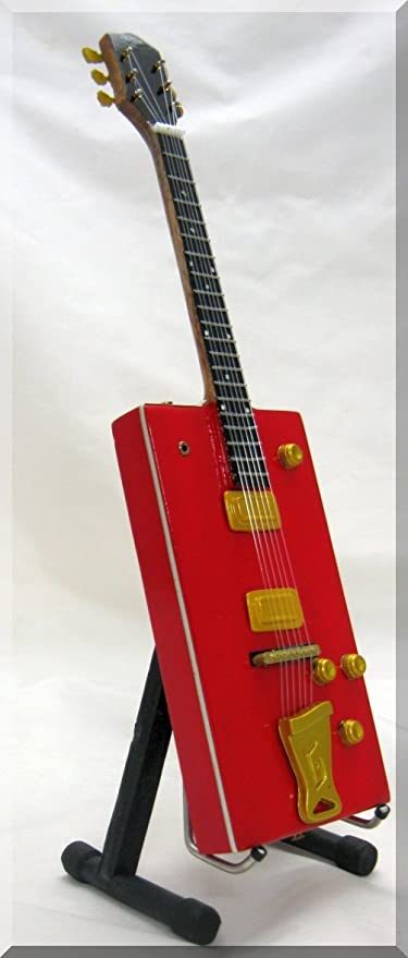 BO Diddley miniatura Guitarra Gretsch Caja de Cigarrillos: Amazon.es: Instrumentos musicales