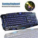 Sokaton M-200 Multimedia Ergonomic   LED Three Color Backlight USB Wired Game Keyboard (Black)