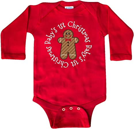 inktastic Christmas Gingerbread Cookies Long Sleeve Creeper