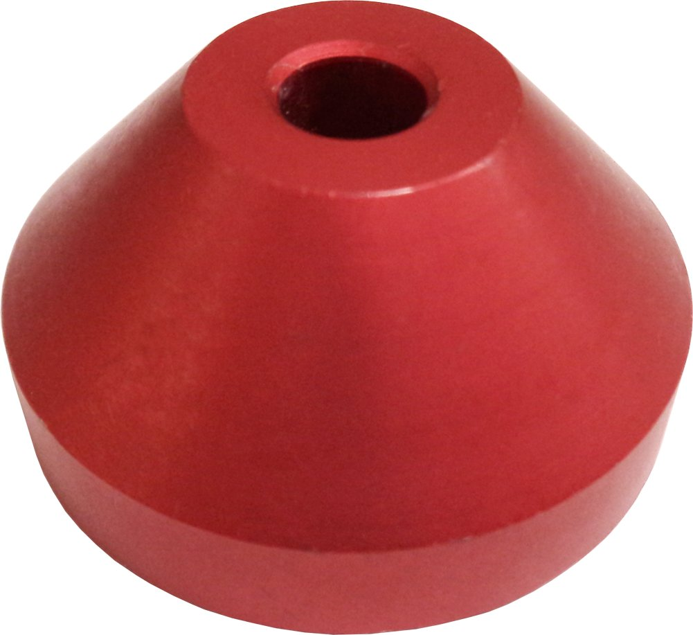 (1) Red Solid Aluminum Vinyl Record Dome Adapter / Insert - Fits Almost Any Turntable! #07MDDARE