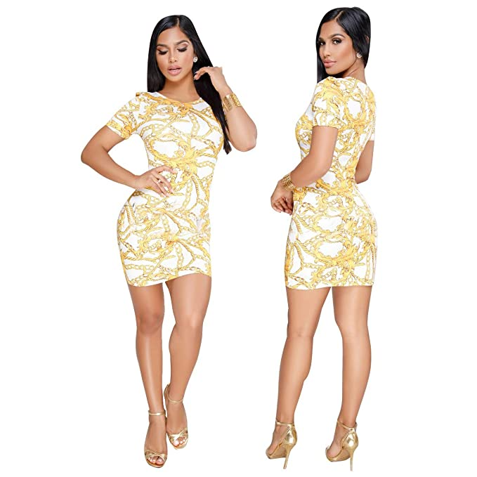 Hooyi Women Christmas Bodycon Dress Short Sleeve Plus Size Party ...