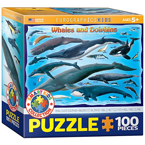 EuroGraphics Whales and Dolphins Jigsaw Puzzle (100-Piece) (Jigsaw Whale)