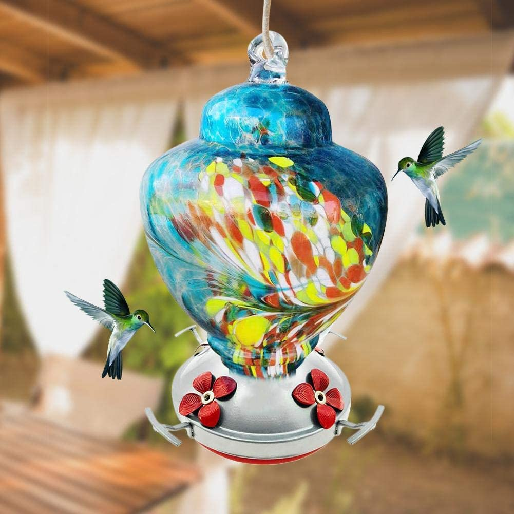 wonderday Hummingbird Feeder Outdoor Garden Garden Wild Drinking Fountain Facile /à Nettoyer et /à remplir Home