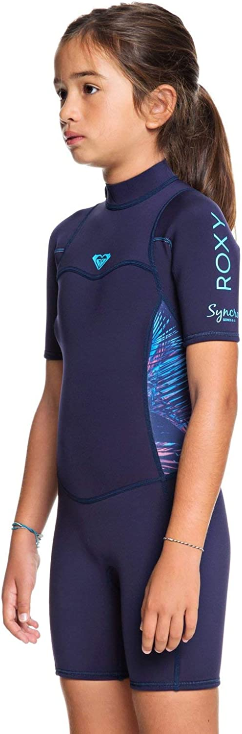 Roxy Girls 2//2Mm Syncro Short Sleeve Back Zip Flt Springsuit Ergw503004