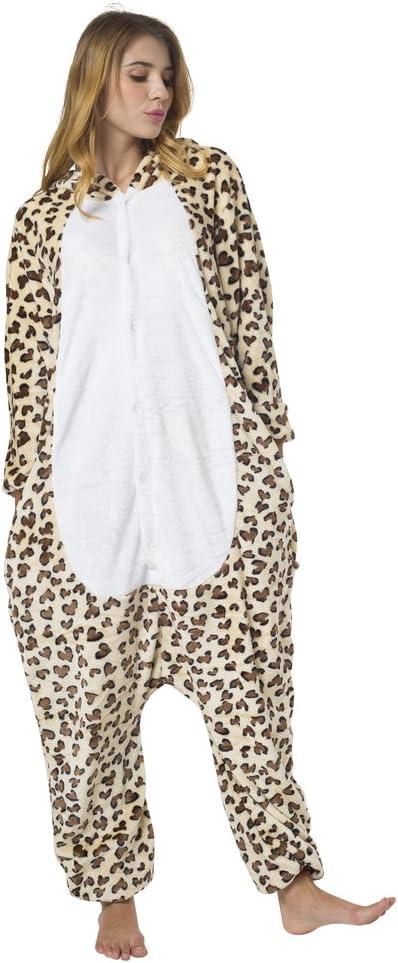 viele Verschiedene Tiere Katara 1744 Leopard Kost/üm-Anzug Onesie//Jumpsuit Einteiler Body f/ür Erwachsene Damen Herren als Pyjama oder Schlafanzug Unisex